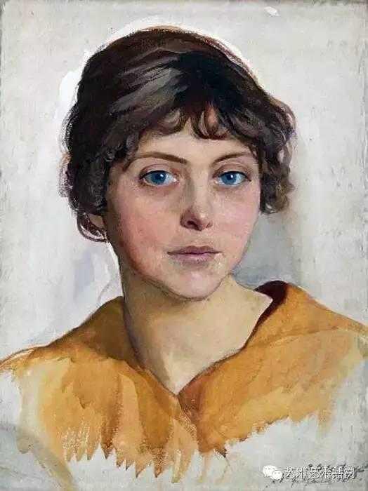 她出身于大师列宾门下,是俄罗斯著名的美女画家图片