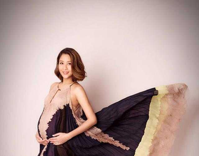 陈敏之怀孕8月拍写真 笑容甜蜜孕肚十分抢镜-好看