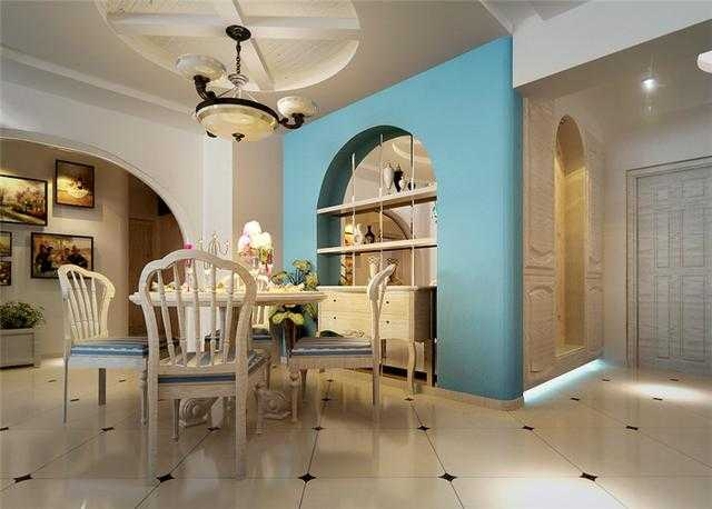 新乡华天公馆130平方三室两厅温馨田园风装修
