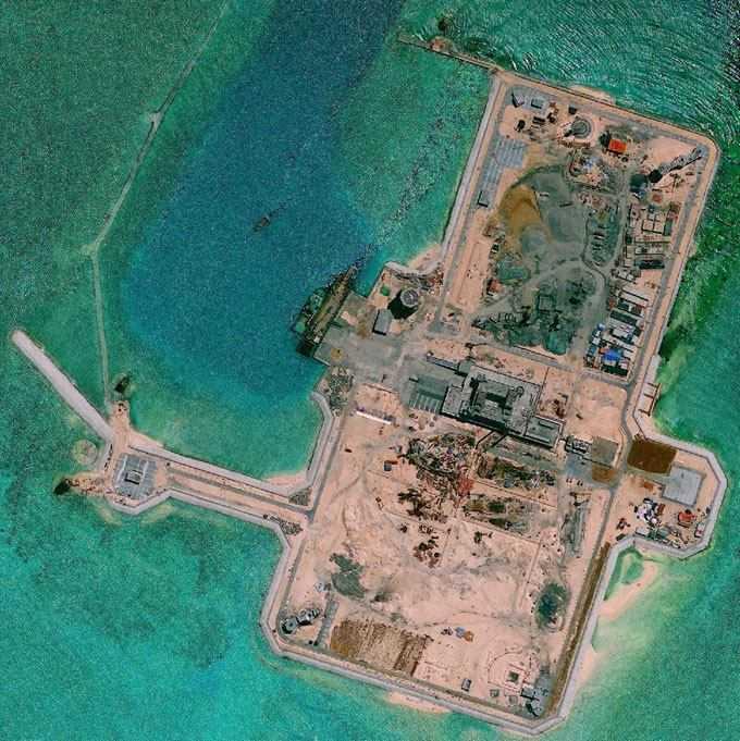 越南菲律宾急疯了,中国南海岛礁2016最新填海进展(附图)