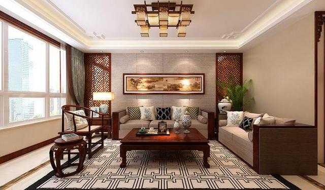 170平米三室两厅中式装修 驼色打底营造恬淡宁静的大气诗意