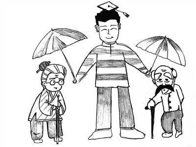 """家庭再次团聚,已是新一代留学生""""变身""""海归的重要原因.图片"""