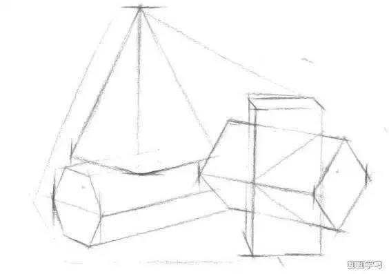 如何学素描——静物素描中空间的构建图片