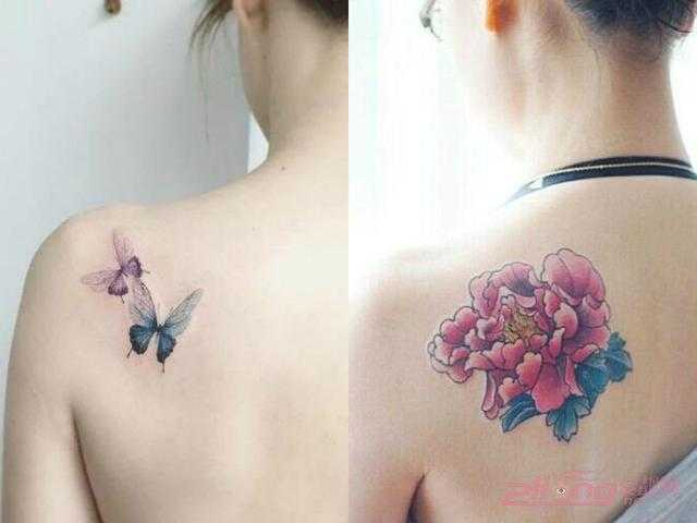 精致唯美的女生锁骨纹身图案图片图片