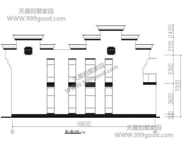 新农村徽派别墅设计图,11.5x16.6米38万建起来!