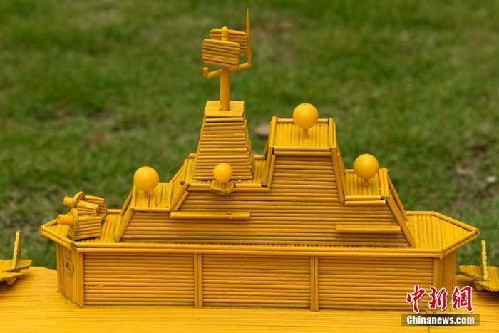 竹签手工制作大桥