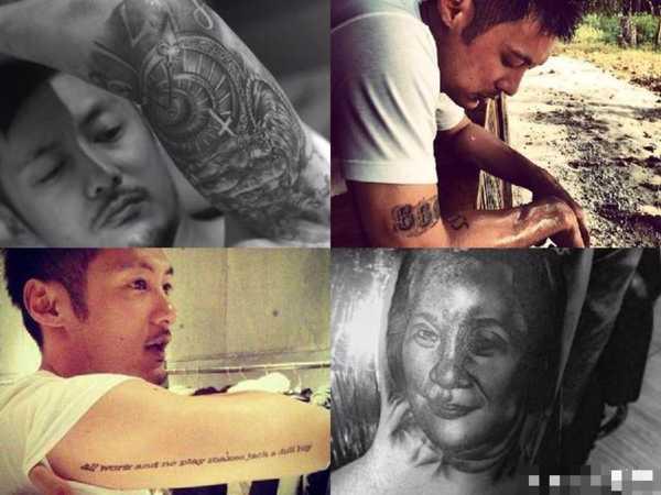 爆料胡歌背后的纹身竟是她,文章余文乐陈冠希这些明星图片