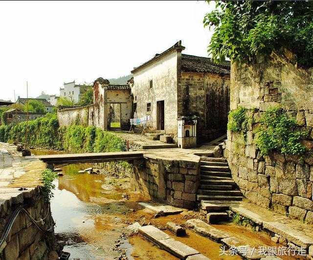 查济桥梁原有安徽宣城市泾县,位于108座祠堂,108座庙宇,108座模型别墅古镇流水图片