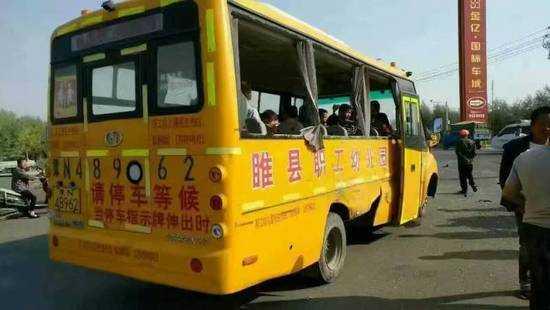 校车安全事故?y?'_河南睢县校车安全事故受伤13人全为学生肇事司机已被控制