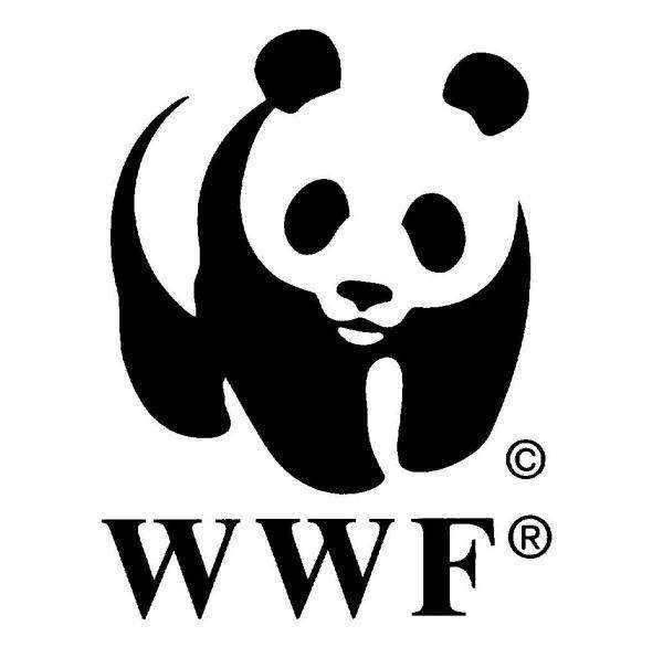 世界自然基金会(wwf)的logo就是一只大熊猫,大家也都是眼熟的图片