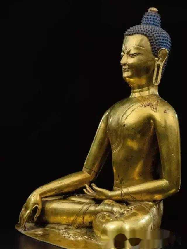 13世纪帕拉王朝双色铜释迦牟尼佛像