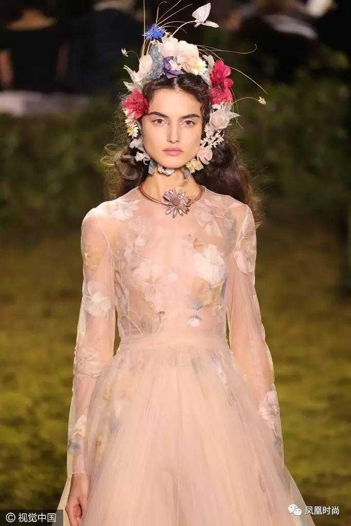 仙女裙晚礼服手绘设计手稿