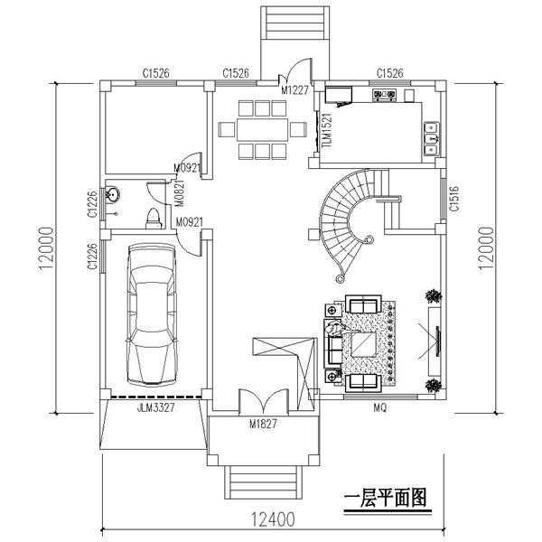 4x12米别墅设计图,简欧彰显文艺气质!图片
