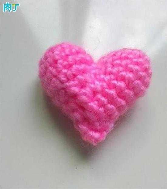 钩针编织花样 立体爱心的钩法详细步骤图解教程