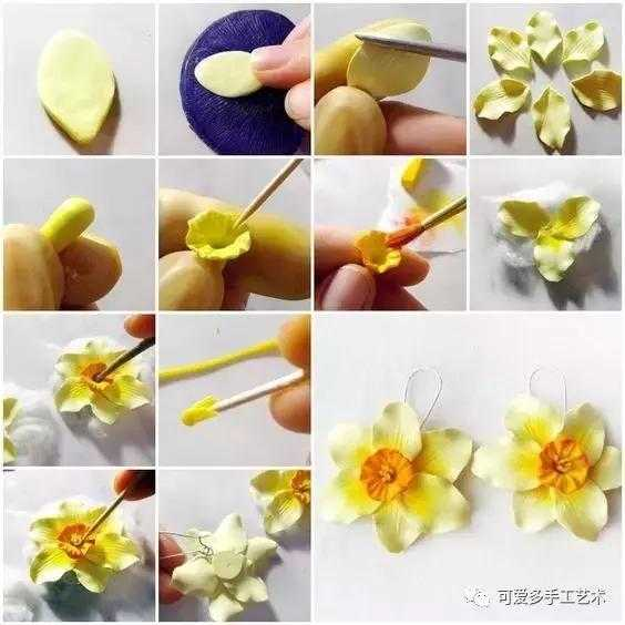 纸粘土花朵教程图解