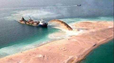 在南海填海造岛?