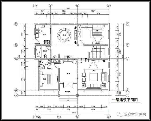 套房设计图三室一厅农村图片