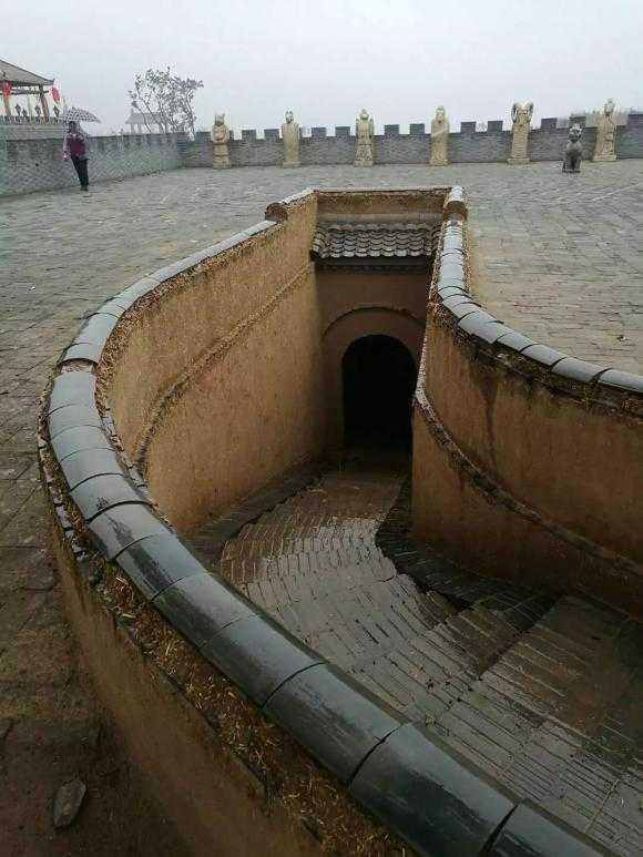 地坑院的出入口图片