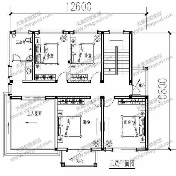 农村12.6x10.8米自建房,户型方正超实用,含设计图!