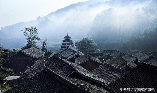 怀化侗寨风景速写