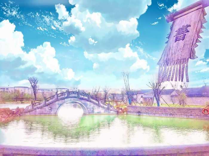动画街道风景图片