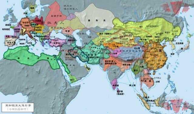 亚欧大陆历史形势图图片