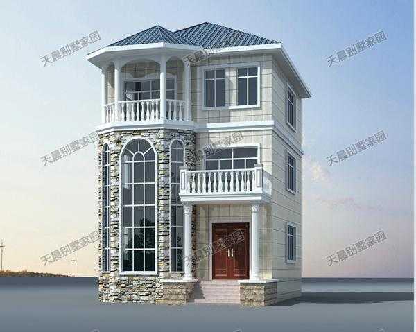 新農村三層別墅設計圖,9.3x13.5米引領復古潮流!