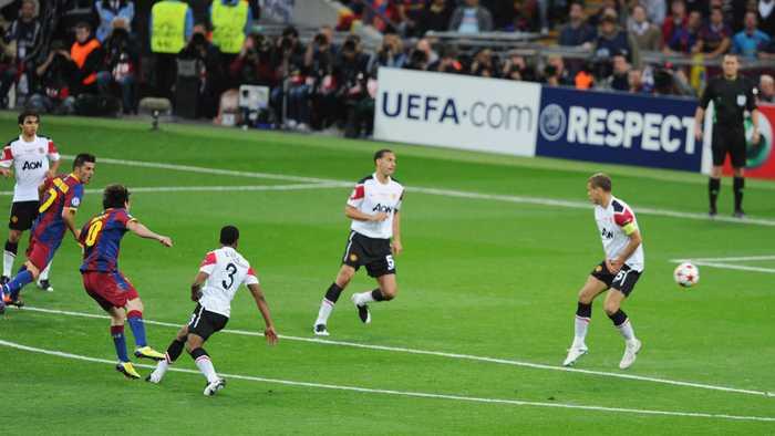 梅西在欧冠的里程碑进球,四夺欧冠 率破纪录图片