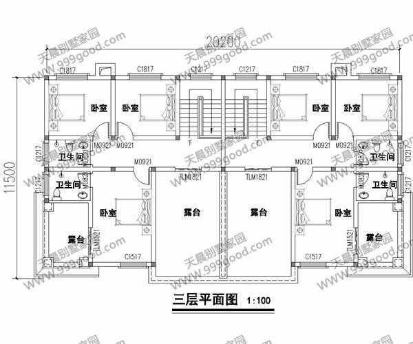 5x20.2米自建别墅设计图