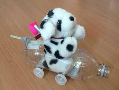 详细做法:饮料瓶制作儿童科技小发明:diy气压动力小车