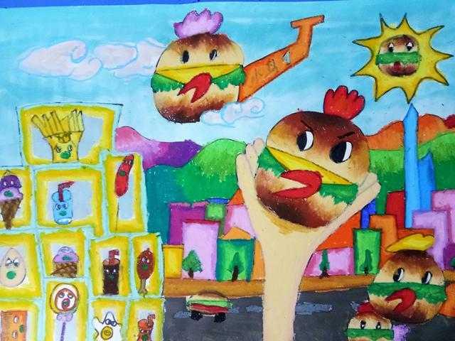 儿童创想画教学:从汉堡创想绘画课中去思考儿童画辅导图片