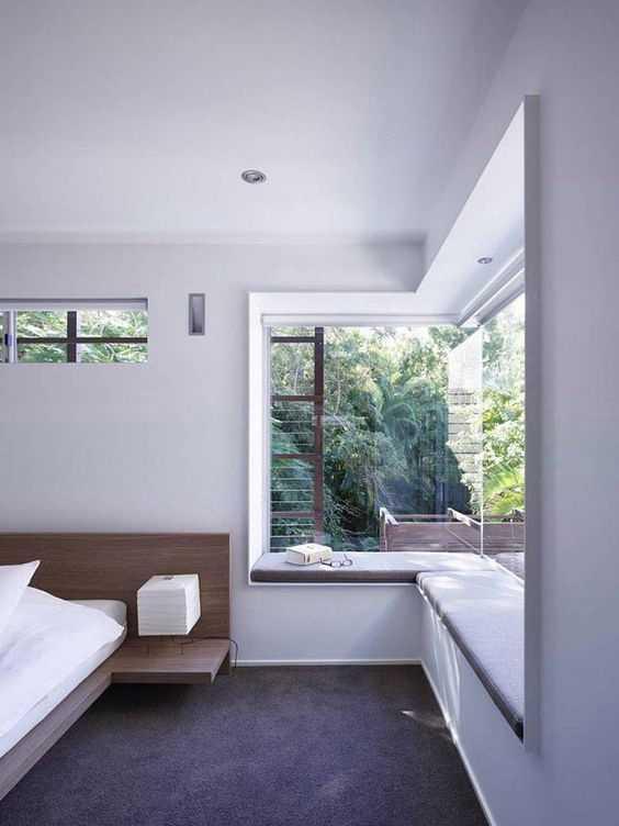 l型转角飘窗,应充分利用它形成的开阔视野,设计追求简洁.图片