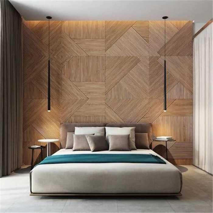 也有一些在卧室床头做背景墙的