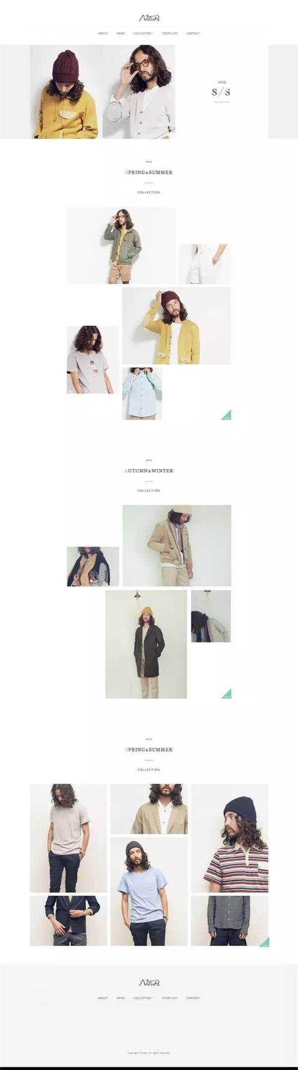 20 款高逼格服装页面排版设计,让受众从此处迷上你的产品!图片