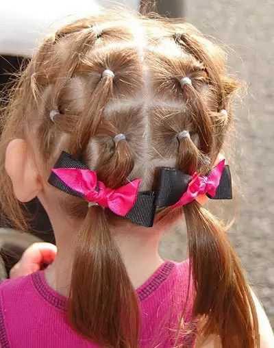 儿童扎头发教程,家有女儿的就给她这么扎图片
