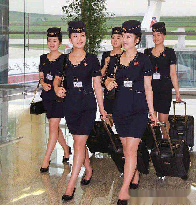 写真朝鲜纯天然空姐美女,网友大赞原生态气质!阁实拍美女模特图片