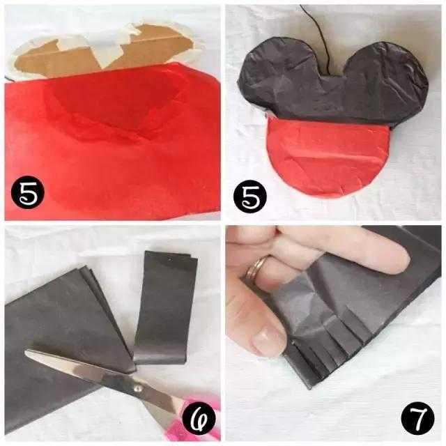 幼儿园亲子手工之米奇老鼠,用纸皮箱就能做出这么好看