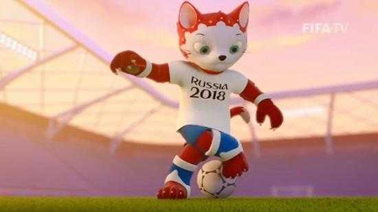 """2018俄罗斯世界杯官方吉祥物揭晓,卡通""""狼""""高票当选"""