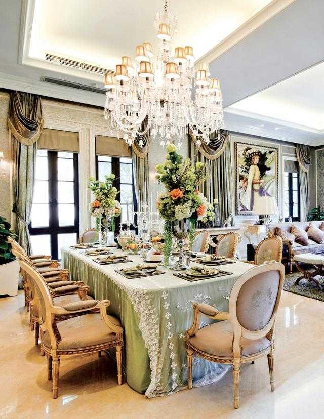 郑州法兰原著 207平方 法式风格 装修样板间 ——餐厅