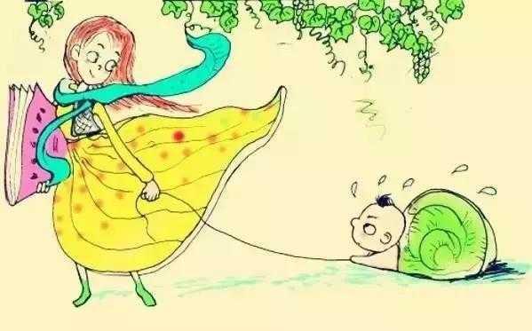 孩子散步简笔画