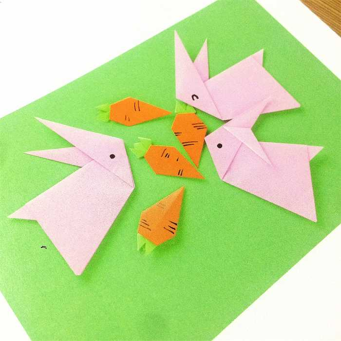 儿童折纸|可爱小兔子,史上最简单的折法!图片