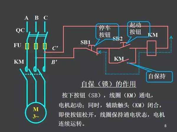 单转自锁控制电路图