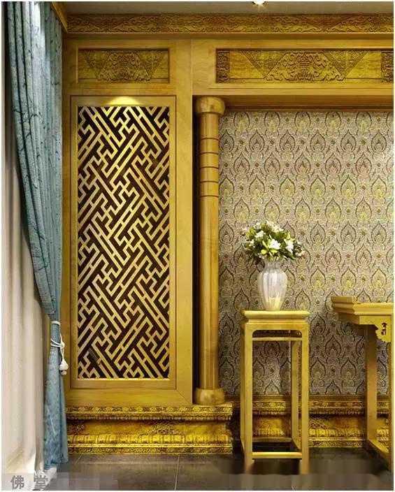 佛堂设计 家庭佛堂布置装修效果图图片