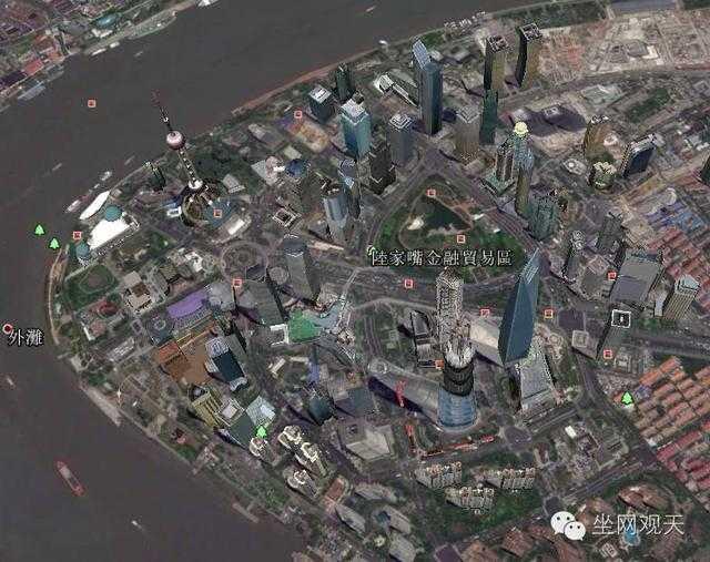 谷歌地图上的3d上海浦东