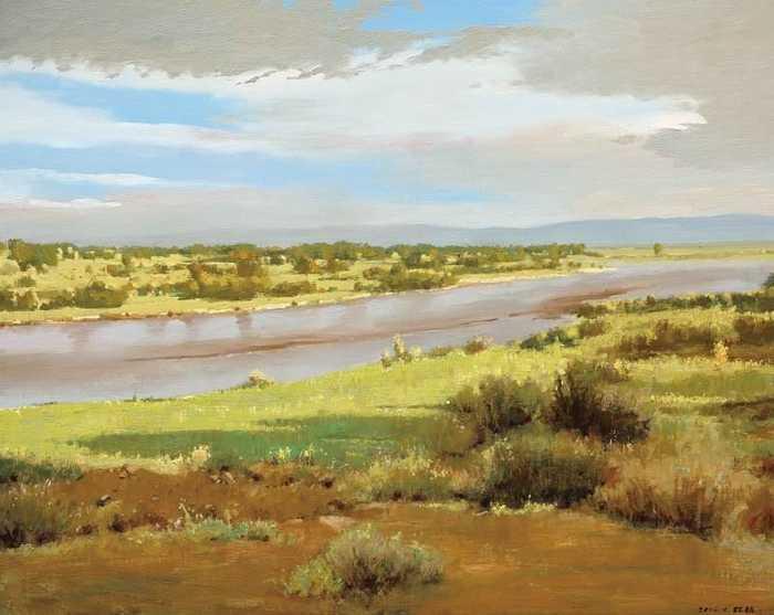 使北方大平原的风景油画看上去更能表现其独特的美感.