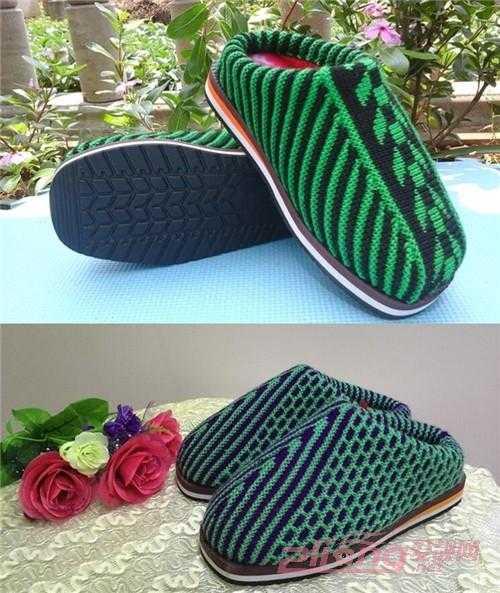 毛线棉鞋的织法和手工编织新款棉鞋分享