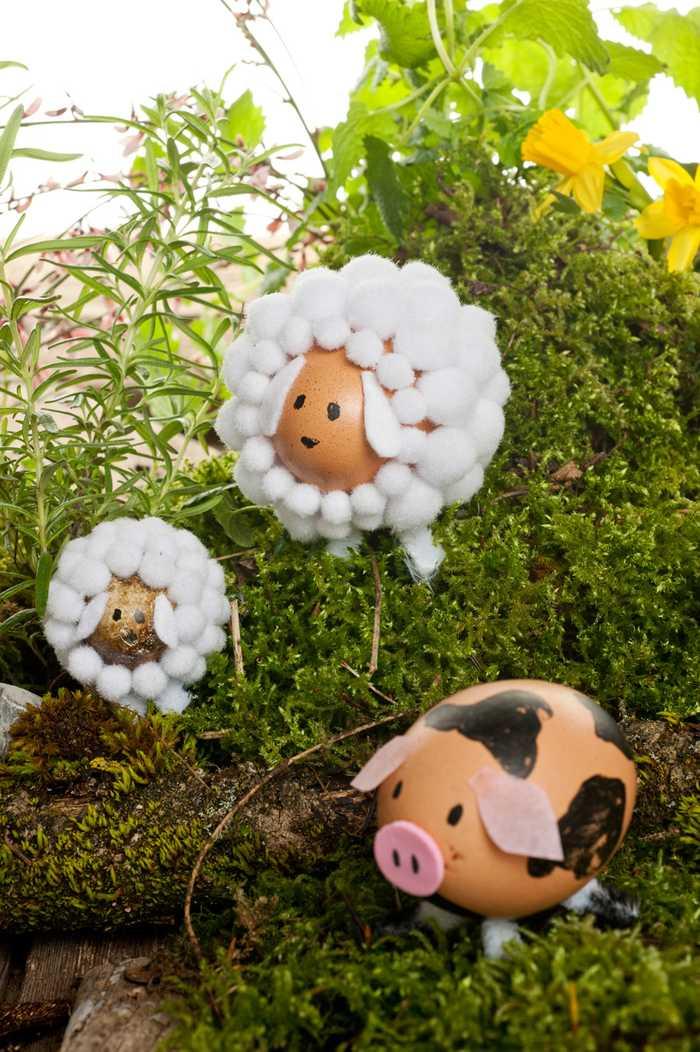 幼儿园亲子手工之废物利用,用鸡蛋壳做出动物园,萌爆了!