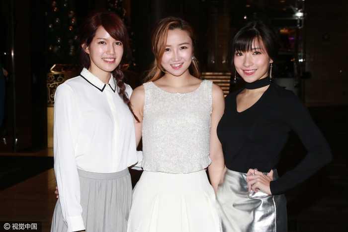 2016年12月3日,香港,明星出席太阳娱乐文化公司举办的圣诞派对.