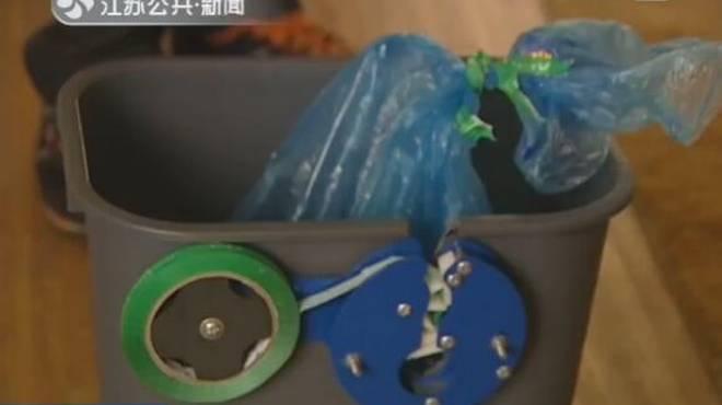 垃圾桶会扎口 苏州一小学生作品获博览会金奖图片