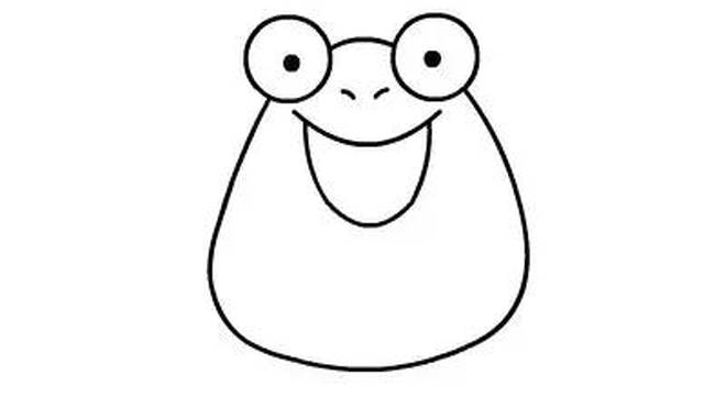 简笔画青蛙的画法简笔画动画教程之青蛙的绘画分解步骤2图片